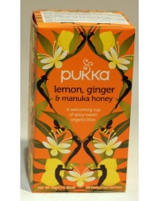 herbata lemon, ginger & manuka honey 40g PUKKA