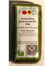 fasolka mung BIO 400g DENVER FOOD